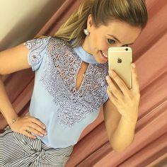 Bom dia  blusa divaaaa pra vocês! E na cor mais linda do mundo  tamanhos PMG…