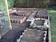 roof tiles as garden edging - Google Search