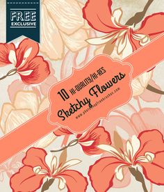 10 Free Sketchy Floral Brushes for Photoshop