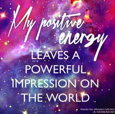 Your daily Affirmation for May 24, 2016. It's time to clear your old energy and replace it with POSITIVE ENERGY and watch what happens!  You are a beautiful soul, go out into the world and shine your light!  Have a very blessed day!