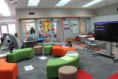 Last week I enjoyed the Australasia Region Conference of Council of Educational Facility Planners International. (CEFPI) here in Auckland. Learning Spaces, Learning Environments, Learning Centers, 21st Century Classroom, 21st Century Learning, New Classroom, Classroom Design, Classroom Ideas, School Library Displays