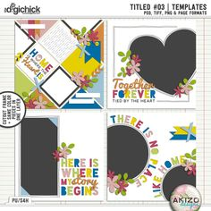 Titled #03 | Templates by Akizo Designs - For Digital Scrapbooking Layout