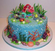 ariel birthday cakes for girls   Ariel the Little Mermaid birthday cake