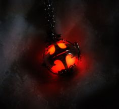 """Wouldn't this be awesome inside a spiritual stone?! """"Glow in the Dark Sterling Silver Locket Pendant  by MySoulShards, €21.90"""""""