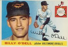 1955 Topps #57 Billy O'Dell Front