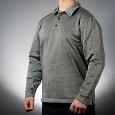 SlashPRO™ Slash Resistant Polo Sweatshirts are made using Cut-Tex® PRO offering outstanding, tested and certified levels of cut, abrasion and tear resistance. Tactical Survival, Tactical Gear, Upper Body, Men Sweater, Polo, Pullover, Sweatshirts, Long Sleeve, Mens Tops