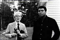 Artist and Studio, Andy Warhol and Muhammad Ali at Fighters Haven,...
