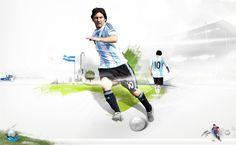Messi Art HD Wallpaper