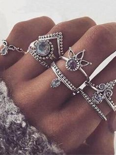 Retro set Silver Boho Arrow Turquoise Moon Midi Finger Knuckle Rings in Jewelry & Watches, Fashion Jewelry, Rings Cute Jewelry, Metal Jewelry, Jewelry Rings, Vintage Jewelry, Jewelry Accessories, Cheap Accessories, Cheap Jewelry, Vintage Rings, Metal Ring