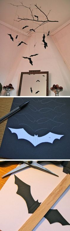 Check out the tutorial on how to make a DIY bat mobile for Halloween home decoration @istandarddesign