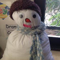 our pillow snowman