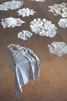 Folds – Detail of Ceramic Installation