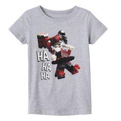 """Girls 7-16 LEGO Harley Quinn """"Ha Ha Ha"""" Graphic Tee, Grey"""