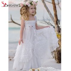 Find More Flower Girl Dresses Information about 2016 Flower Girl Dresses Pageant Gowns A line Lace And Ruffles Appliques Chiffon pageant dresses for little girls communion,High Quality dress neck,China dresses for larger ladies Suppliers, Cheap dresses tall from S. Dream Dreses Co,Ltd on Aliexpress.com