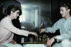 David Bowie and Catherine Deneuve. Chess to the death.