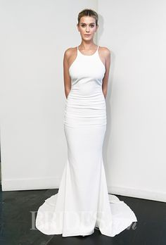 This @nicolemillernyc #weddingdress has a great, sporty vibe | Brides.com