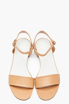 MAISON MARTIN MARGIELA Tan leather Flat sandals