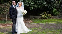Jockey Tommy Berry and Sharnee Nisbet were married at Sydney's Curzon Hall. Sharnee wore a Roz la Kelin bridal gown from Annabel's Bridal in Canberra. #weddings #bridalgown #brides #weddingdress