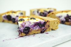 snelle blauwe bessen taart