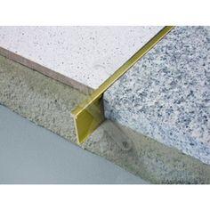 Schluter TERRAZZO Decrative Divider Brass £26.39 /2.5m Length | Buy Schluter Flooring Transitions Online | Northants Tools