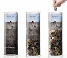 Image result for donate money tin