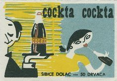 cockta ad matchbox label