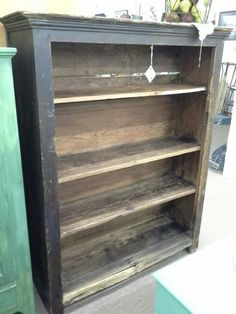 $175 - This primitive bookshelf has 4 shelves for display and storage. As found original finish. It measures approximately 49 inches across the front by 15 inches deep and stands 60 inches tall.  Can be seen in booth H 7 at  Main Street Antique Mall 7260 East Main Street ( E of Power Rd ) Mesa, AZ 85207 480 9241122open 7 days a week 10a.m to 5 : 30p.m Cash, charge or 30 day layaway accepted