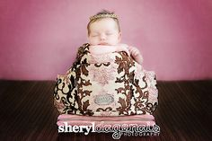 Newborn vintage inspired Gold crown. Photography prop by The Sugar Shop