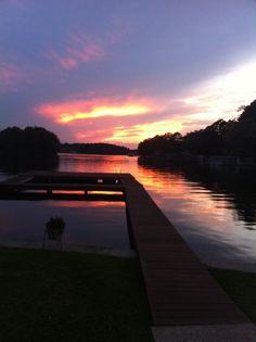 Gorgeous Sunset on Lake Hamilton in beautiful Hot Springs, Arkansas
