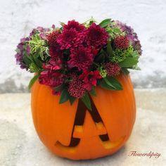 Customized Pumpkin 🎃  #october #autumnwedding #customized #elegant #pumpkin #outdoor #decoration #flowerdesign #flowerdipity #event #halloweendecorations Fruit Arrangements, Autumn, Table Decorations, Elegant, Flowers, Home Decor, Classy, Decoration Home, Fall Season