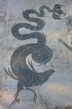 Sea-beastie mosaic in Ostia Antica, Rome - this would make a rather striking tattoo