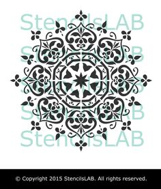 Mandala Style Stencil - Floral Motive Wall Stencil - Original And Uniq – StencilsLab Wall Stencils and Decals