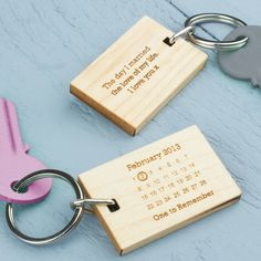 Maple - Personalised-Never-Forget-Date-Keyring-MLM033