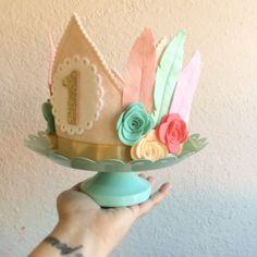 Brave Little One Feather Crown// Headdress// Smash Cake by mosey