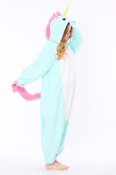 Adorable, large pajamas with blue unicorn shape made in Uruguaycha en Uruguay