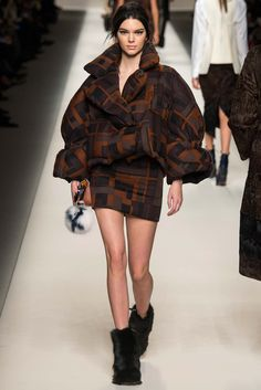 I Love the '80s:Why the Decade is Suddenly Cool Again / The print! The puff! The mini! Kendall Jenner wasn't born until well after the decade in question, but the ensemble she wore at Fendi certainly bore traces of it.