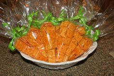 Cheez-it Carrot Sleeves  I think I am gonna send these for Easter preschool treats too!