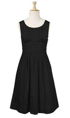 I love black A-Line dresses. http://eshakti.com/Product/CL0019411/Pleat-waist-cotton-dress