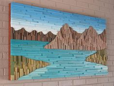 Mountain wood wall art- wood wall art- modern wall art -home decor This amazing Mountain Range wood wall sculpture landscape piece is my impression to portray a realistic image of what mountains look like. This mountain landscape flows organically from one side to the other, putting