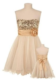short sequined prom dress~
