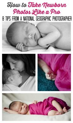 Newborn photography tips from a National Geographic photographer. Good to know!