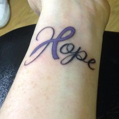 Hope tattoo for Ulcerative Colitis
