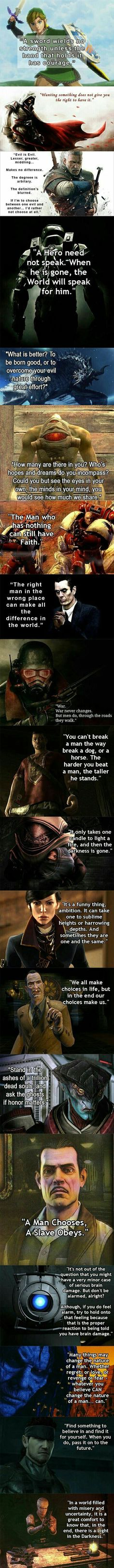 19 Amazing Video Game Quotes | 8 Bit Nerds