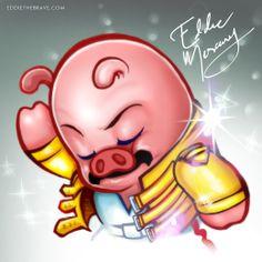 WIN para un Grande entre los grandes, Freddie Mercury. Pigs are the Champions! http://youtu.be/mz7_OiHk96o