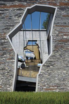 Wang Shu's Work - 2012 Pritzker Prize,Ningbo Tengtou Pavilion, Courtesy of Amateur Architecture Studio