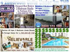 Pattaya 2 Bedroom Condo's under 2m THB, Pattaya, Pattaya, Thailand - Property ID:15981 - MyPropertyHunter
