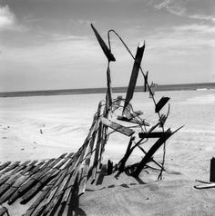 VIVIAN MAIER - Fence on Beach, c. 1960s at Jackson Fine Art, opens July 10, 2014