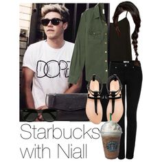 Starbucks with Niall by style-with-one-direction on Polyvore featuring Topshop, Forever 21, Zara, Ray-Ban, Joes, OneDirection, 1d, NiallHoran and niall horan one direction 1d