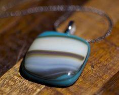 Fused Glass Art Necklace | Etsy Jewelry Art, Unique Jewelry, Art Necklaces, Fused Glass Art, Gemstone Rings, Pendants, Handmade Gifts, Earrings, Etsy