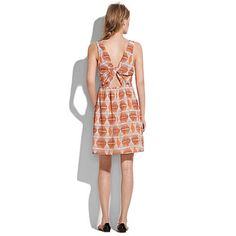 "i think this falls under ""dresses that look better on people who aren't as skinny as models"" Silk Shapesketch Twist-Back Tankdress $158 madewell"